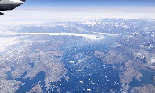 Blick auf die Küste Grönlands
