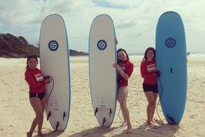 Zwischendrin kurz Surfen - bestens möglich an der QUT.