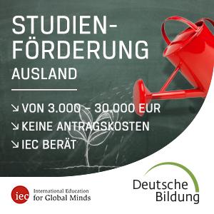 Studienförderung Ausland.